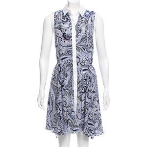 Trina Turk Paisley Print Silk Dress